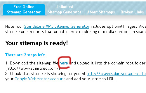 Download xml sitemap